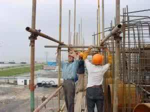 武汉脚手架租凭公司现场施工图